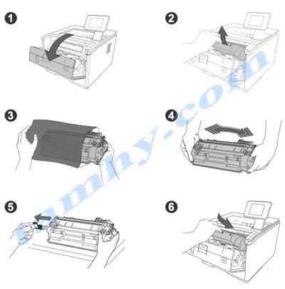 Cách thay mực in Hp 80A