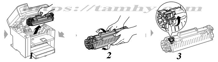Cách thay thế Hộp Mực in Canon 328 Tương Thích