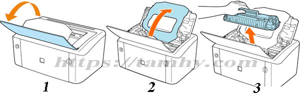 Cách thay Hộp Mực máy in Canon 3018 Tương thích