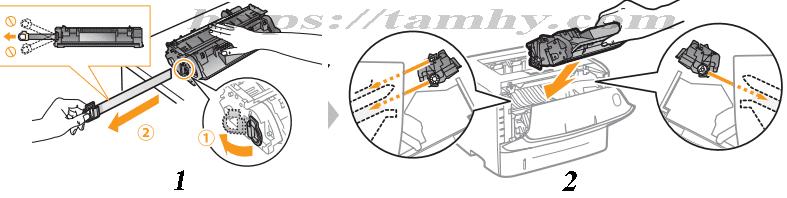 Hướng dẫn cách thay Mực in Canon 319 Tương thích