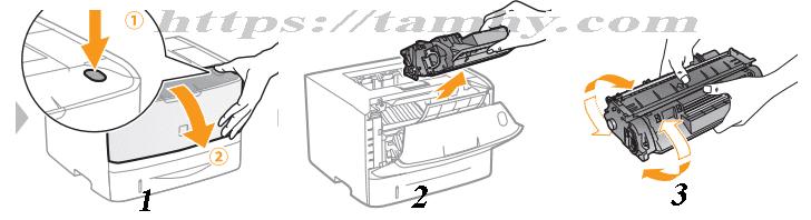 Cách thay Mực in Canon 319 Tương thích