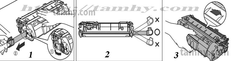 Cách thay Hộp Mực in Canon 308 Tương thích
