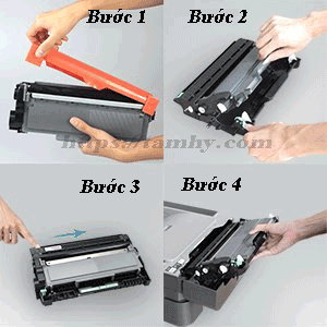 Cách thay thế Mực máy in Brother HL L2361DN