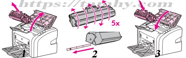 Cách thay thế hộp mực máy in Hp 1020