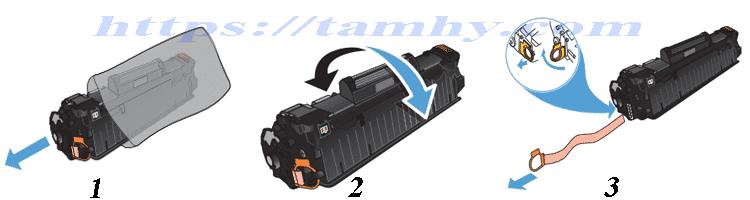 Hướng dẫn Cách thay Hộp Mực máy in Hp M127NF Hiệu THC 83A Chất Lượng