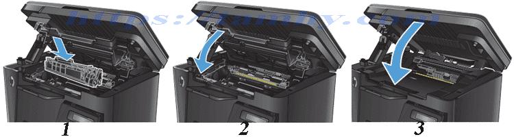 Cách thay thế Hộp Mực máy in Hp M127NF Hiệu THC 83A