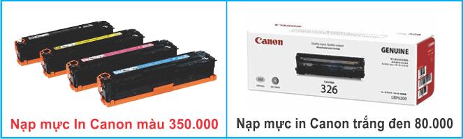 Giá đổ mực máy in Canon quận 5