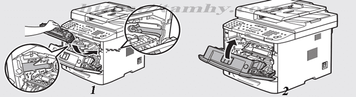 Cách thay thế Hộp Mực máy in Canon MF 5840DN