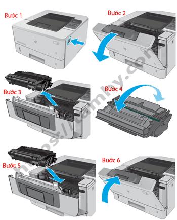 Cách thay thế Hộp Mực máy in Hp M402DN