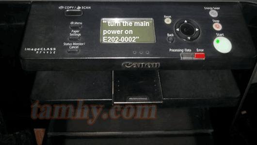 máy in canon mf4750 báo lỗi e202-0002