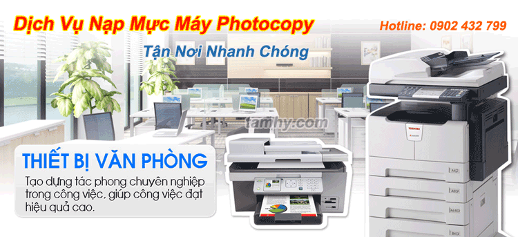 Thay mực máy photocopy tận nơi tại Gò Vấp