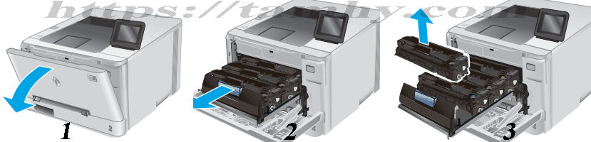 Cách thay Hộp Mực in laser màu Hp 201A CF401