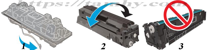 Hướng dẫn Cách thay Hộp Mực in laser màu Hp 201A CF401