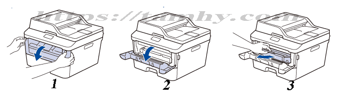 Cách thay Mực máy in Xerox DocuPrint P225d