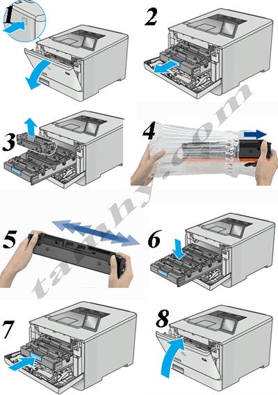 cách thay thế Mực in Hp CF210 (131A)