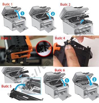 Cách thay thế hộp mực in 30A