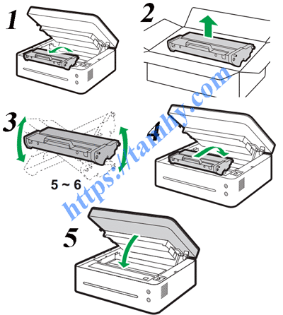 Cách thay Mực máy in Ricoh SP150